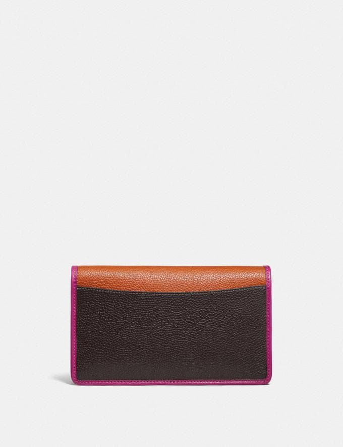 Coach Hayden Foldover Crossbody Clutch in Colorblock B4/Ginger Multi Women Small Leather Goods Wristlets Alternate View 2