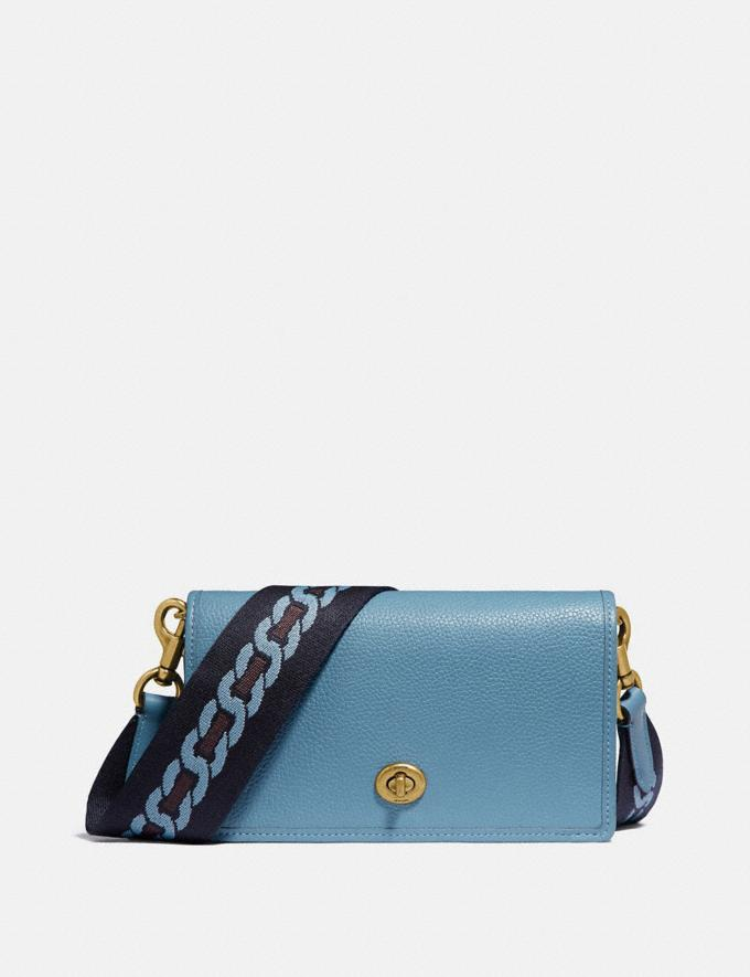 Coach Hayden Foldover Crossbody Clutch B4/Pacific Blue Women Small Leather Goods Crossbody Wallets