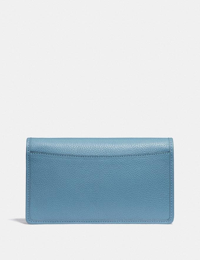 Coach Hayden Foldover Crossbody Clutch B4/Pacific Blue Women Small Leather Goods Crossbody Wallets Alternate View 2