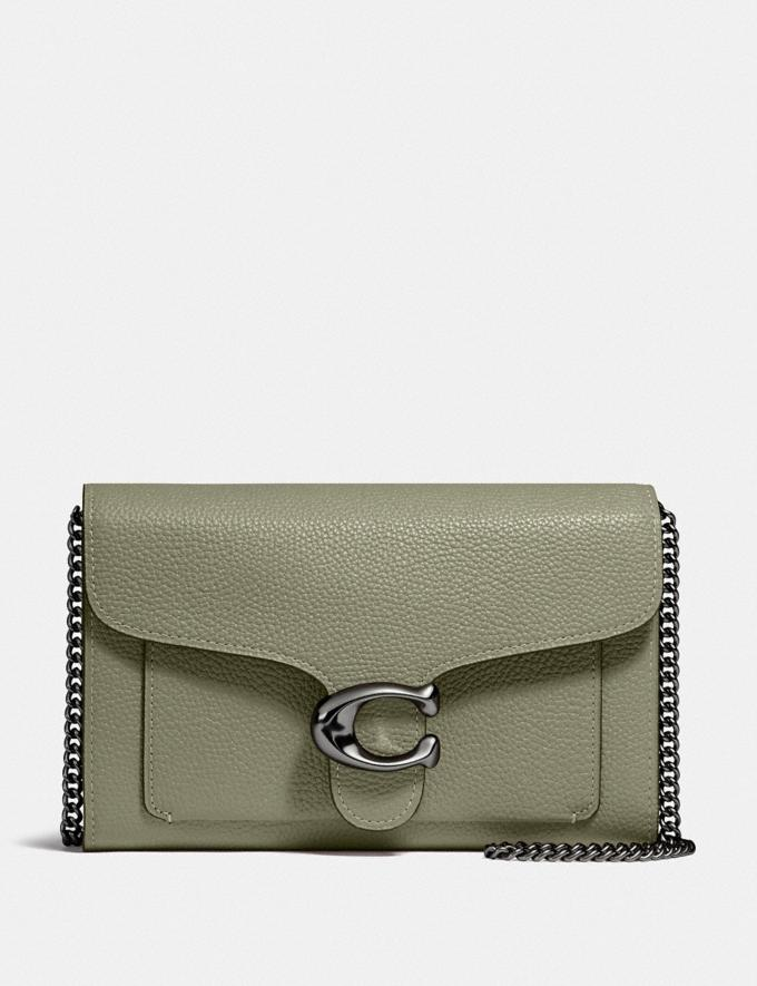 Coach Tabby Chain Clutch V5/Light Fern Women Collection Tabby