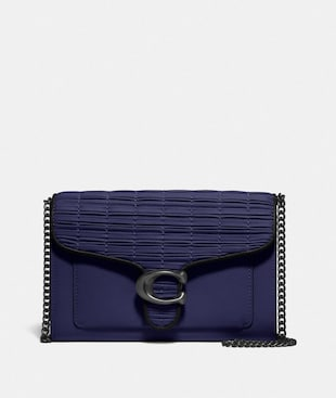 TABBY CHAIN CLUTCH WITH PLEATING