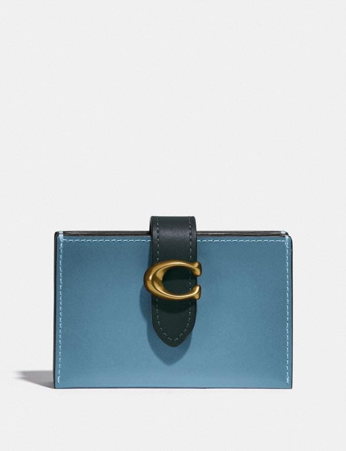 Coach Accordion Card Case in Colorblock B4/Hibiscus Multi Women Small Leather Goods Card Cases