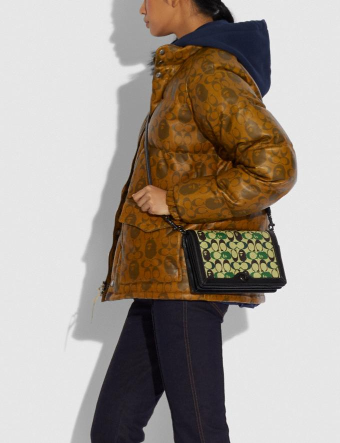 Coach Bape X Coach Riley Crossbody in Signature Canvas With Ape Head Black Copper/Camo Multi  Alternate View 3