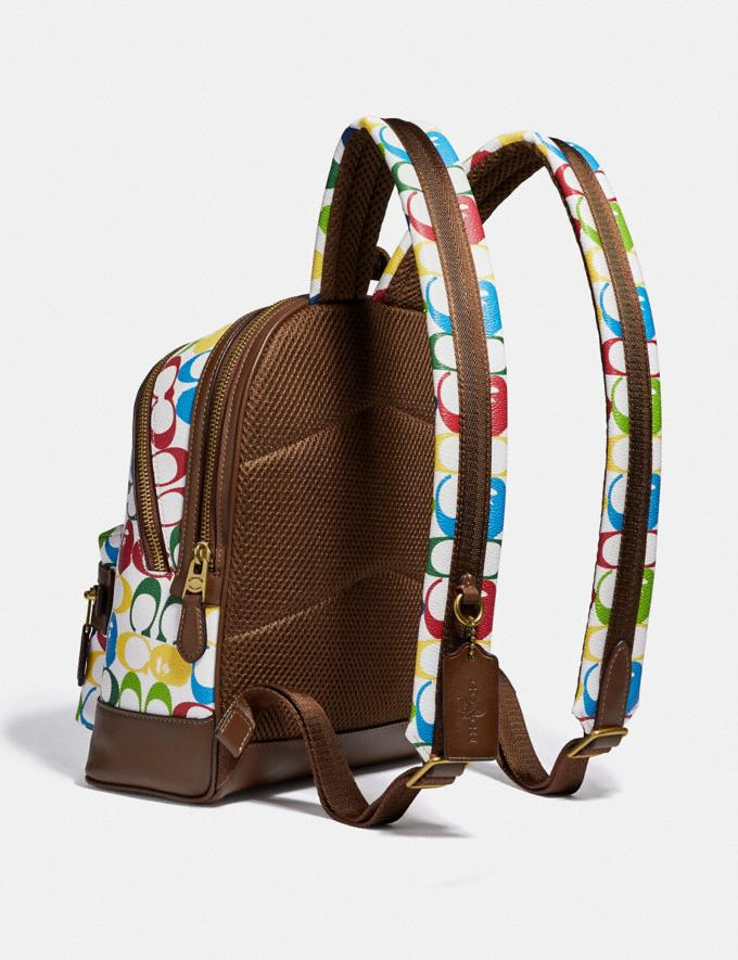 Coach Bape X Coach Academy Backpack 23 in Signature Canvas With Ape Head Brass/Multi  Alternate View 1