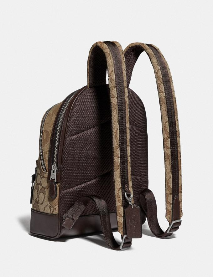 Coach Bape X Coach Academy Backpack 23 in Signature Jacquard With Ape Head Light Antique Nickel/Khaki  Alternate View 1