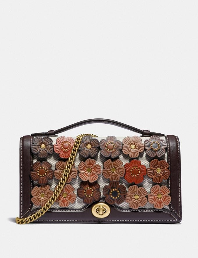 Coach Riley Chain Clutch With Tea Rose Brass/Oak Gifts For Her Bestsellers