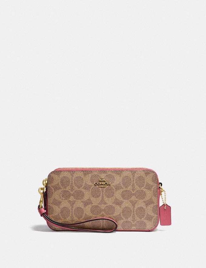 Coach Kira Crossbody in Colorblock Signature Canvas B4/Tan Rouge New Women's New Arrivals Small Leather Goods