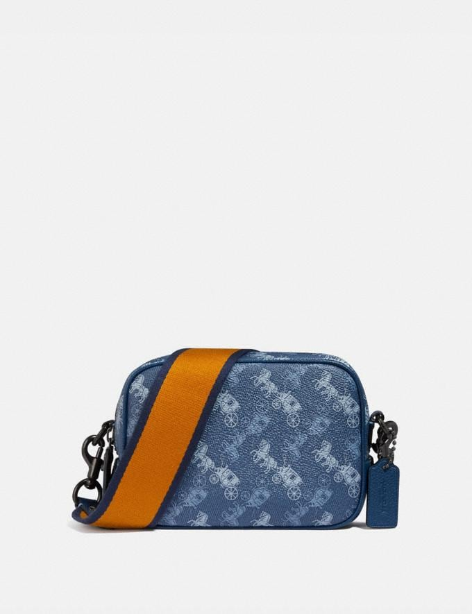 Coach Camera Bag 16 With Horse and Carriage Print V5/Blue True Blue Women Bags Crossbody Bags