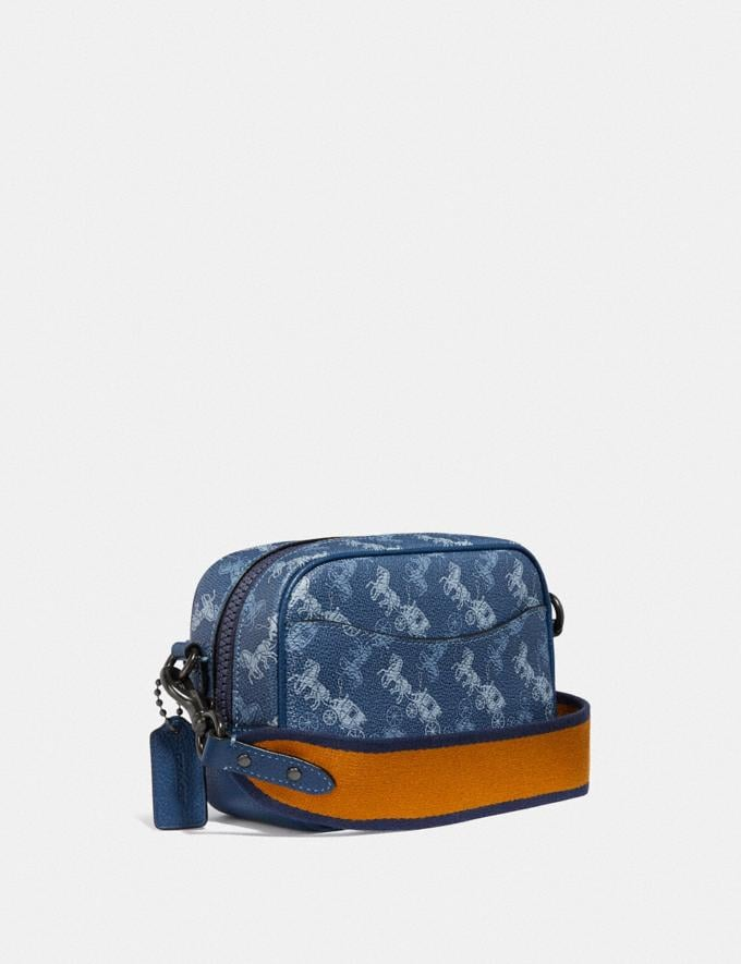 Coach Camera Bag 16 With Horse and Carriage Print V5/Blue True Blue Women Bags Crossbody Bags Alternate View 1
