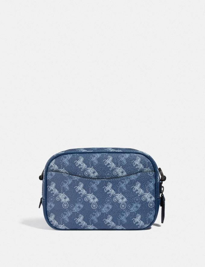 Coach Camera Bag 16 With Horse and Carriage Print V5/Blue True Blue Women Bags Crossbody Bags Alternate View 2