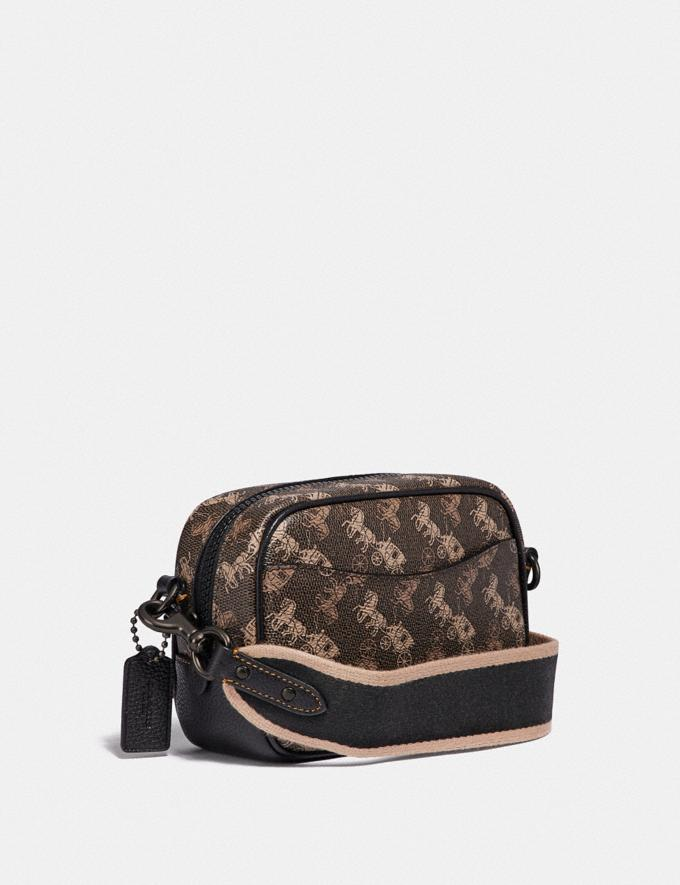 Coach Camera Bag 16 With Horse and Carriage Print V5/Brown Black Women Bags Crossbody Bags Alternate View 1