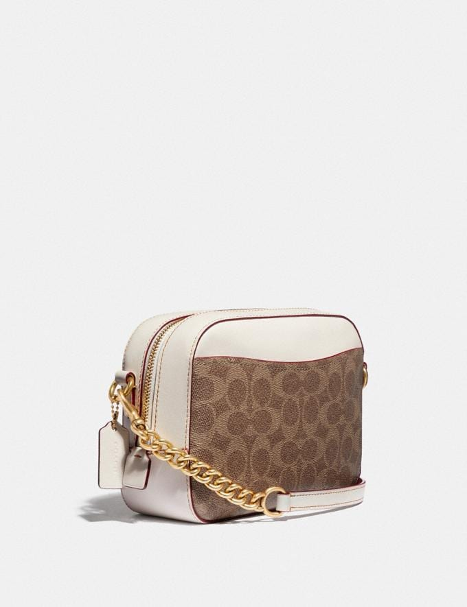 Coach Camera Bag in Signature Canvas by Kendra Dandy Tan Chalk Women Bags Crossbody Bags Alternate View 1