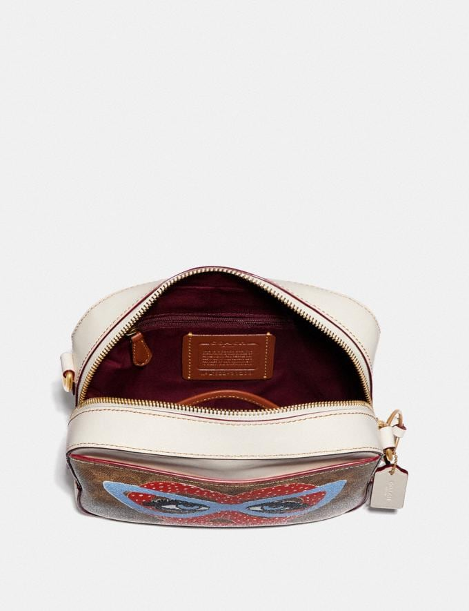Coach Camera Bag in Signature Canvas by Kendra Dandy Tan Chalk New Featured Artist Editions Alternate View 2