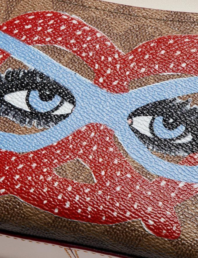 Coach Camera Bag in Signature Canvas by Kendra Dandy Tan Chalk Women Handbags Crossbody Bags Alternate View 3