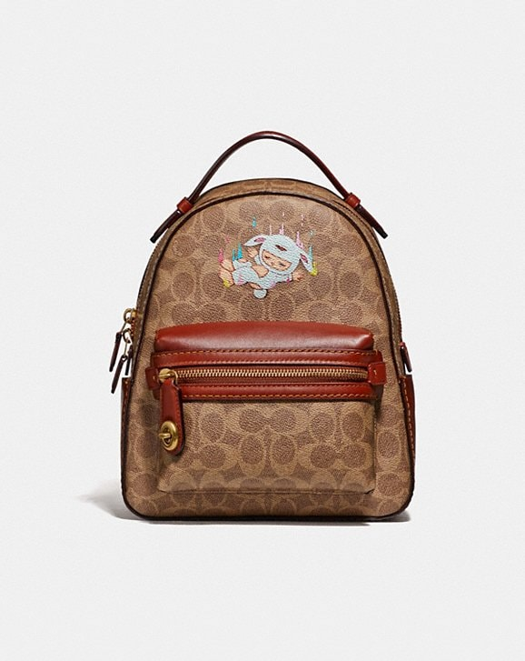 Coach CAMPUS BACKPACK 23 IN SIGNATURE CANVAS BY ALEX FACE