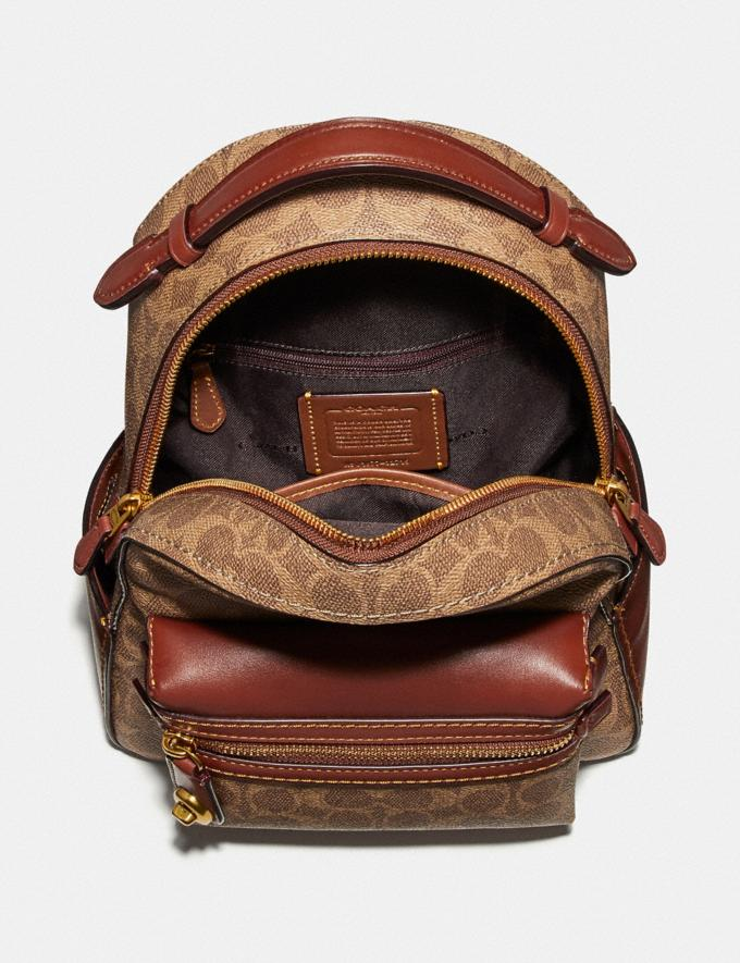Coach Campus Backpack 23 in Signature Canvas by Alex Face Tan Rust New Featured Artist Editions Alternate View 1
