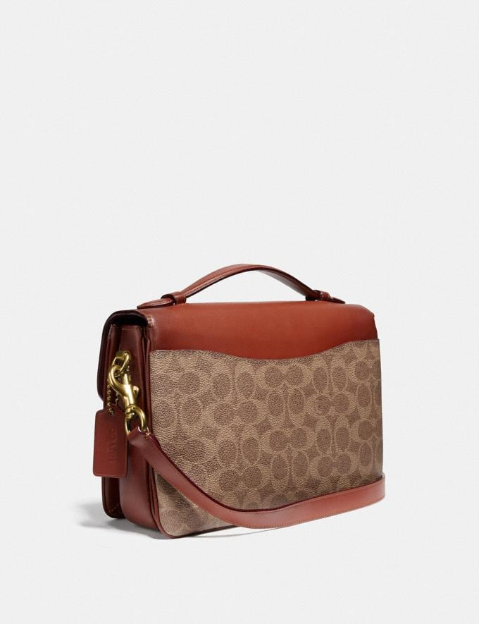Coach Cassie Crossbody in Signature Canvas Blocking by We Are Out of Office Tan Rust Women Bags Crossbody Bags Alternate View 1