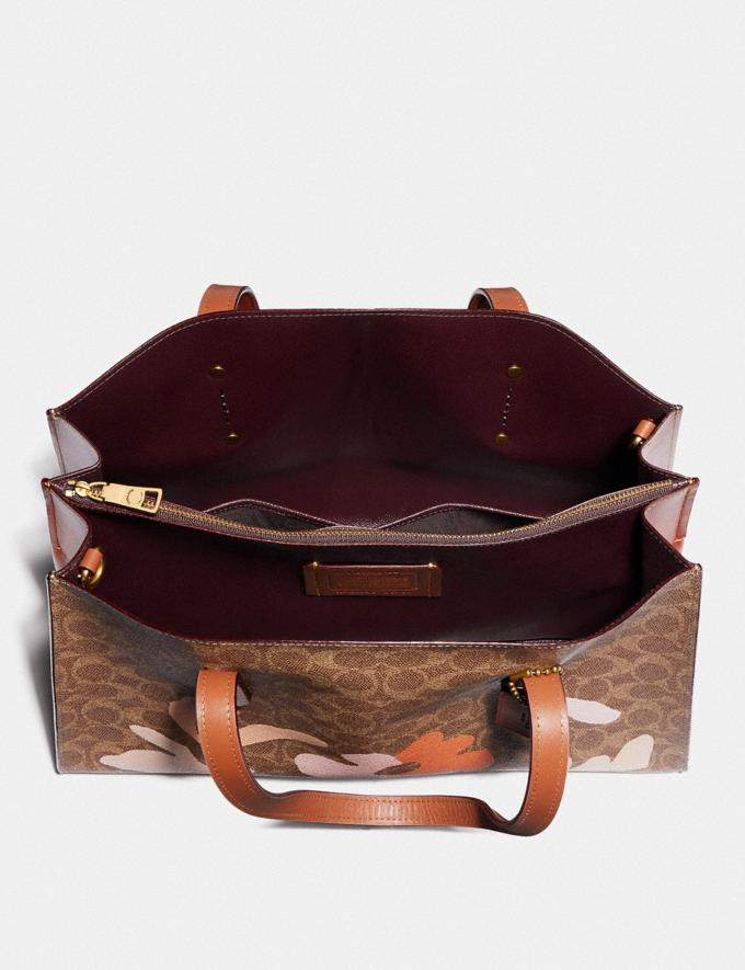 Coach Charlie Carryall in Signature Canvas by Marleigh Culver Brass/Rust New Featured Artist Editions Alternate View 2
