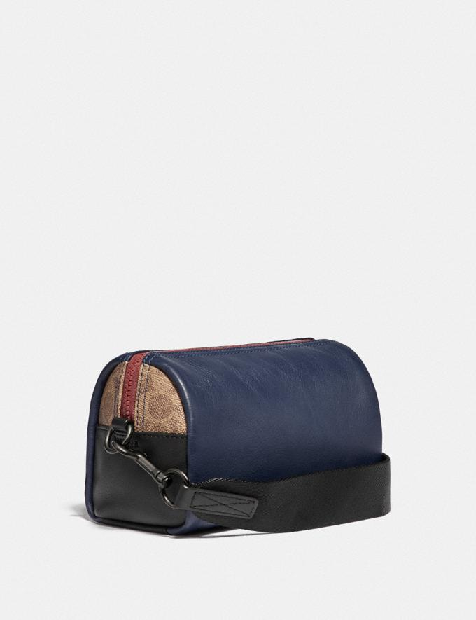 Coach Pacer Convertible Dome in Colorblock With Signature Canvas Detail and Coach Patch True Navy Multi PRIVATE SALE Men's Sale Accessories Alternate View 1