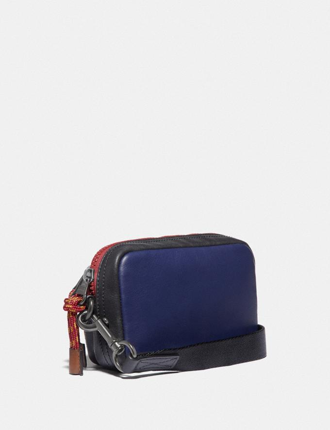 Coach Pacer Convertible Double Pouch in Colorblock Signature Canvas With Coach Patch True Navy Multi Men Accessories Tech & Travel Alternate View 1