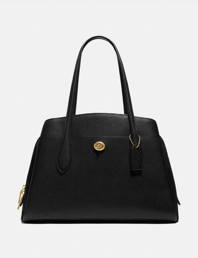 Coach Lora Carryall Brass/Black Gifts For Her Under $500