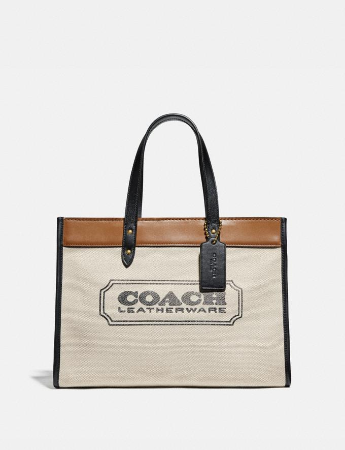 Coach Field Tote 30 With Badge