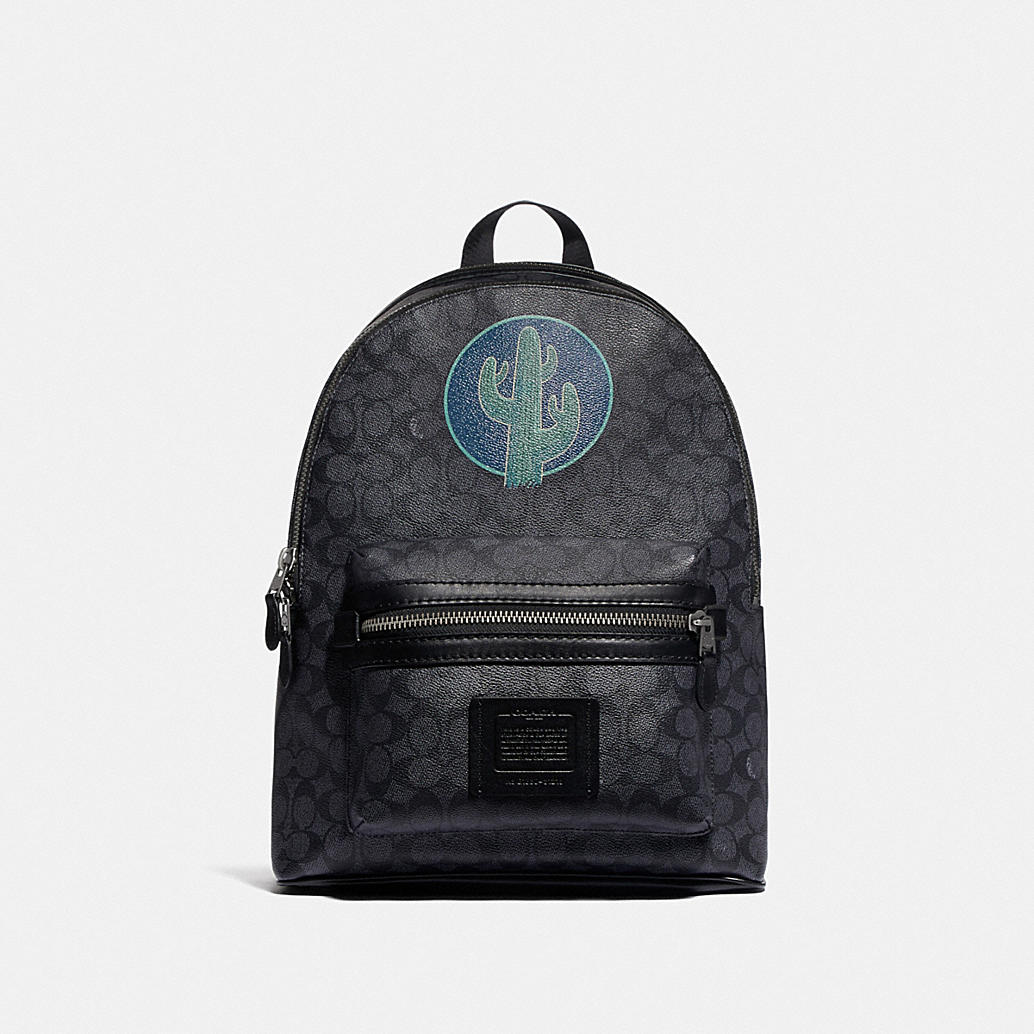 Academy Backpack In Signature Canvas By Robert Frank Hunter by Coach