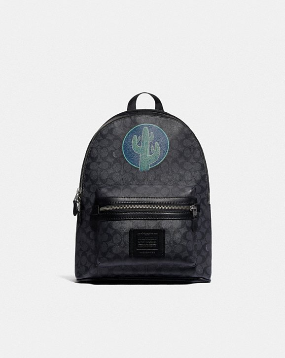 Coach ACADEMY BACKPACK IN SIGNATURE CANVAS BY ROBERT FRANK HUNTER