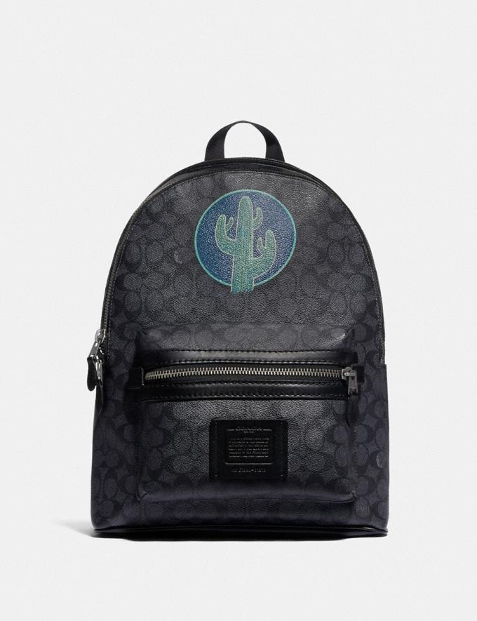Coach Academy Backpack in Signature Canvas by Robert Frank Hunter Charcoal New Men's New Arrivals View All