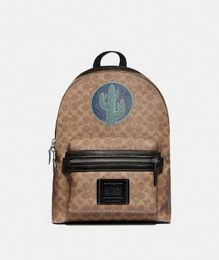 ACADEMY BACKPACK IN SIGNATURE CANVAS BY ROBERT FRANK HUNTER