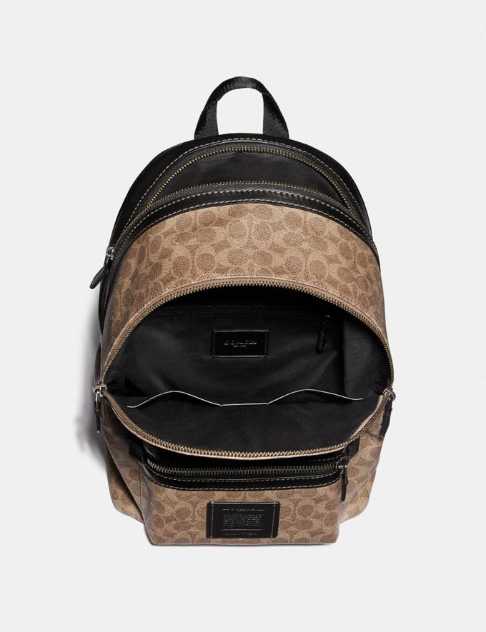 Coach Academy Backpack in Signature Canvas by Robert Frank Hunter Khaki Men Bags Backpacks Alternate View 2
