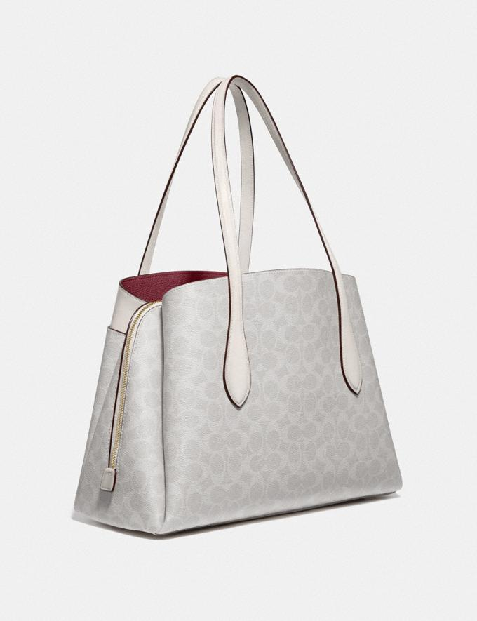 Coach Lora Carryall in Signature Canvas B4/Chalk Chalk New Women's New Arrivals Alternate View 1