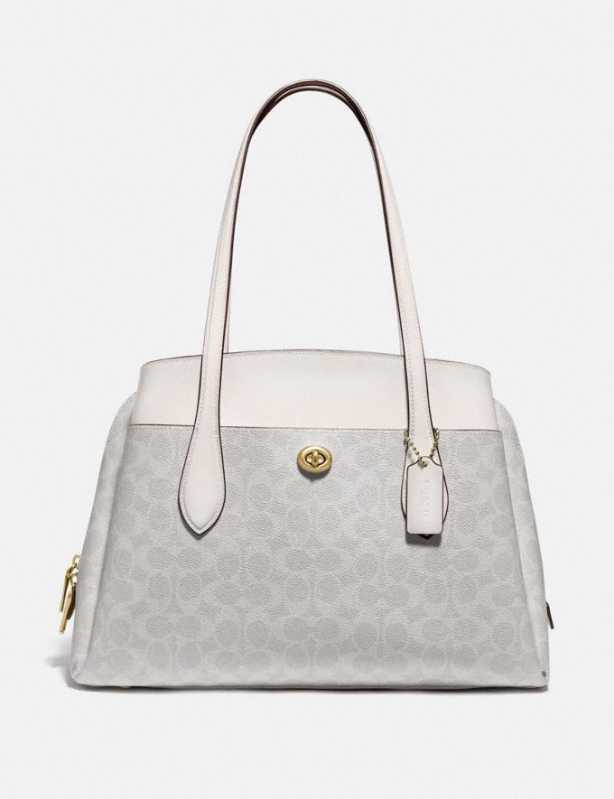 Coach Lora Carryall in Signature Canvas B4/Chalk Chalk New Women's New Arrivals
