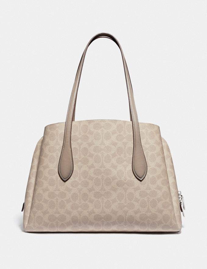 Coach Lora Carryall in Signature Canvas Light Nickel/Sand Taupe Women Collection Signature Alternate View 2