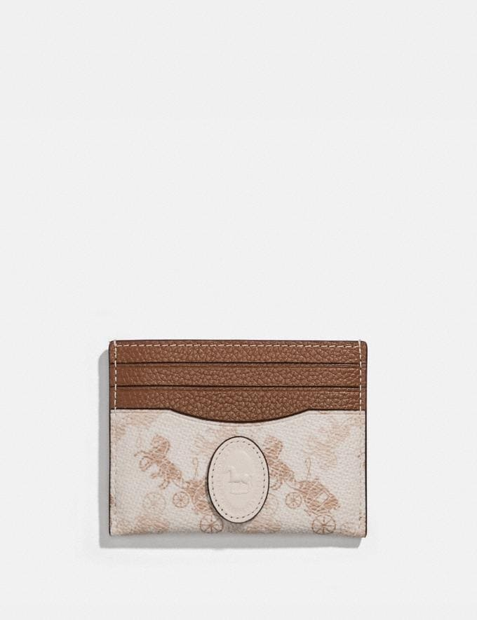 Coach Card Case With Horse and Carriage Print and Archive Patch Pewter/Chalk Dark Saddle PRIVATE SALE Women's Sale Wallets & Wristlets