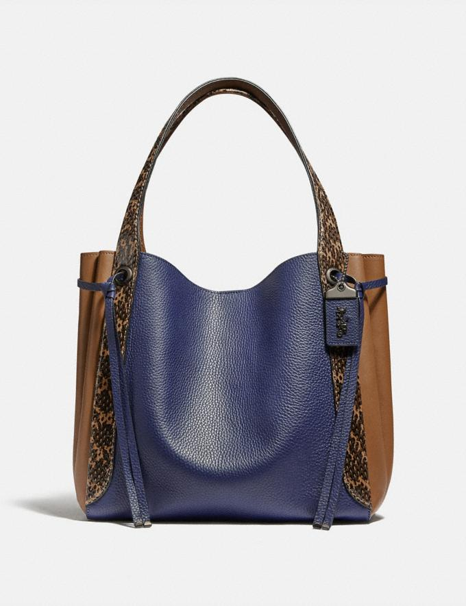 Coach Harmony Hobo in Colorblock With Snakeskin Detail V5/Cadet Multi