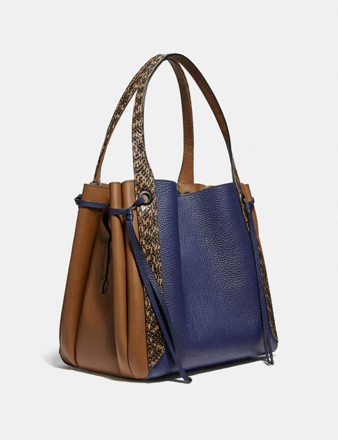 Coach Harmony Hobo in Colorblock With Snakeskin Detail V5/Cadet Multi Women Handbags Shoulder Bags & Hobos Alternate View 1