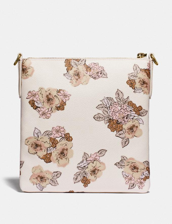 Coach Kitt Messenger Crossbody With Floral Bouquet Print Brass/Chalk Women Handbags Crossbody Bags Alternate View 1