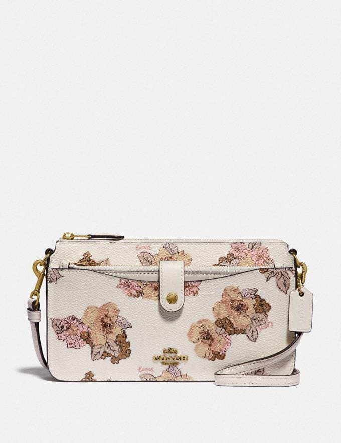 Coach Noa Pop-Up Messenger With Floral Bouquet Print Brass/Chalk Gifts For Her Under $300