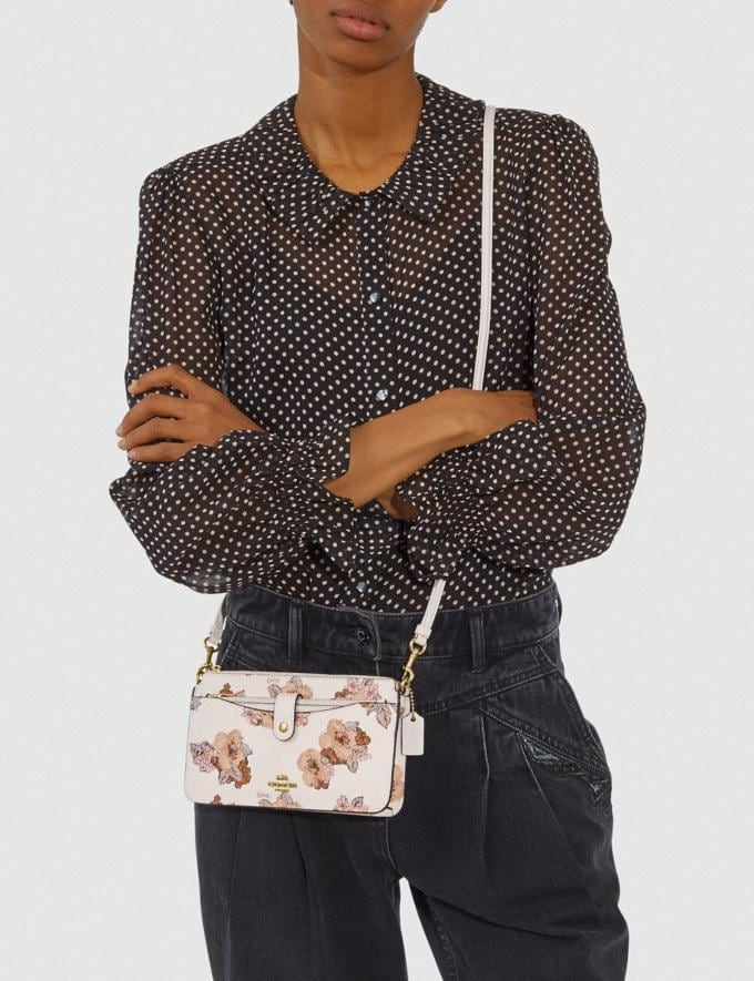 Coach Noa Pop-Up Messenger With Floral Bouquet Print Brass/Chalk Gifts For Her Under $300 Alternate View 2