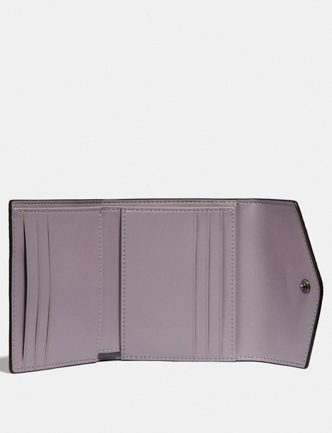 Coach Small Wallet With Heritage Floral Print Pewter/Soft Lilac Multi Gifts For Her Under $100 Alternate View 1