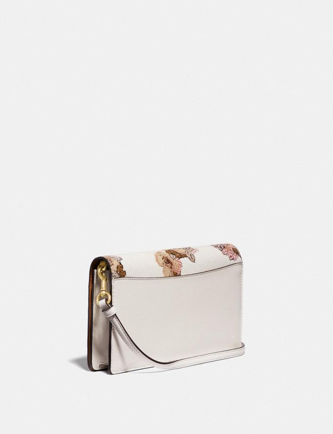 Coach Hayden Foldover Crossbody Clutch With Floral Bouquet Print Brass/Chalk Gifts For Her Alternate View 1