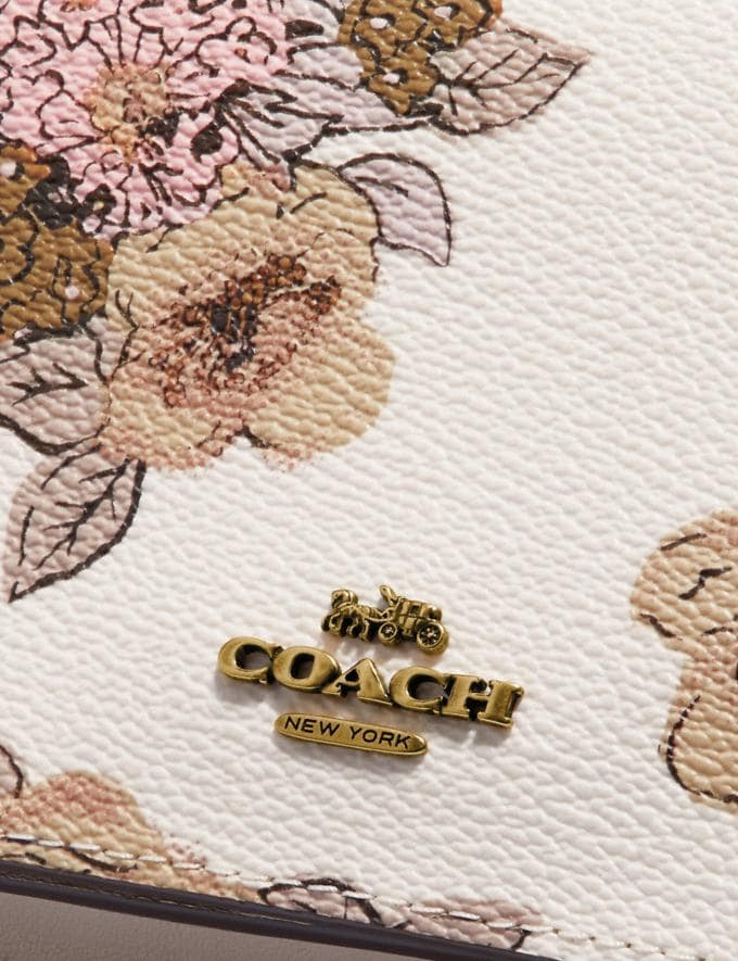 Coach Hayden Foldover Crossbody Clutch With Floral Bouquet Print Brass/Chalk Gifts For Her Under $300 Alternate View 4