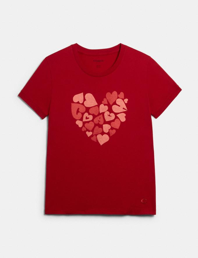 Coach Coach Heart T-Shirt Red