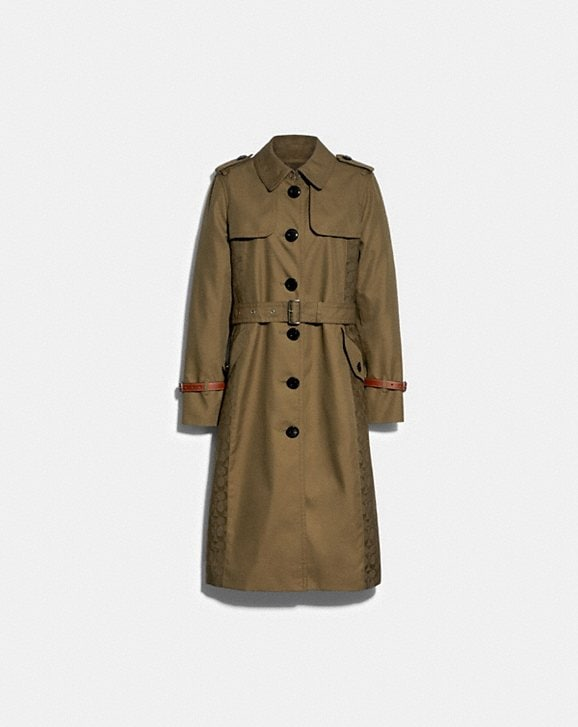 Coach SIGNATURE PANEL TRENCH