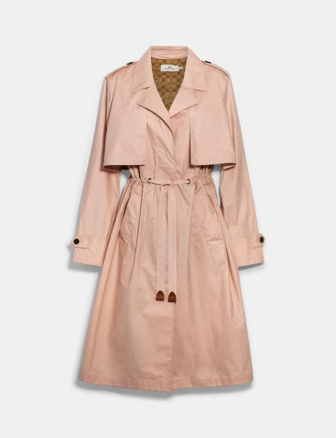 Coach Lightweight Overcoat With Signature Lining Blossom