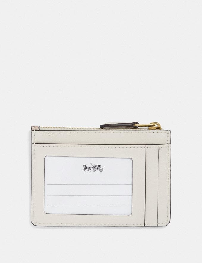 Coach Mini Skinny Id Case With Floral Bouquet Print Brass/Chalk Gifts For Her Bestsellers Alternate View 1