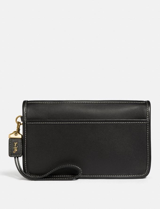 Coach Britt Wristlet Brass/Black Women Wallets & Wristlets