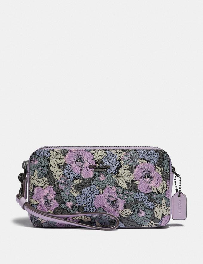 Coach Kira Crossbody With Heritage Floral Print Pewter/Soft Lilac Multi New Women's New Arrivals Bags