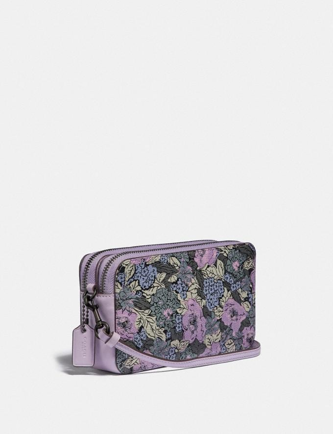Coach Kira Crossbody With Heritage Floral Print Pewter/Soft Lilac Multi New Women's New Arrivals Bags Alternate View 1